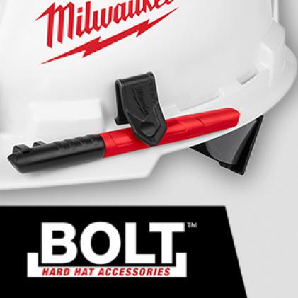 Full brim hard hat with BOLT™ Marker Clip