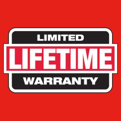 Milwaukee hard hat has limited lifetime warranty