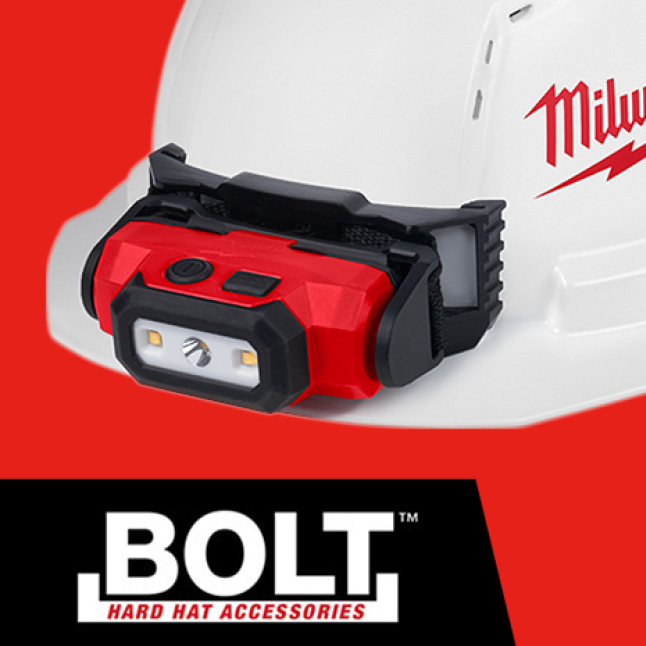 BOLT Headlamp Mount Stays Secure to construction hard hat