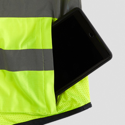 Safety work vest with Tablet Zippered Pocket