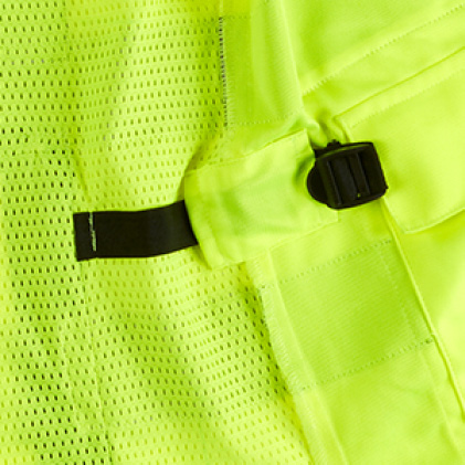 High visibility vest with Internal Size Adjustment