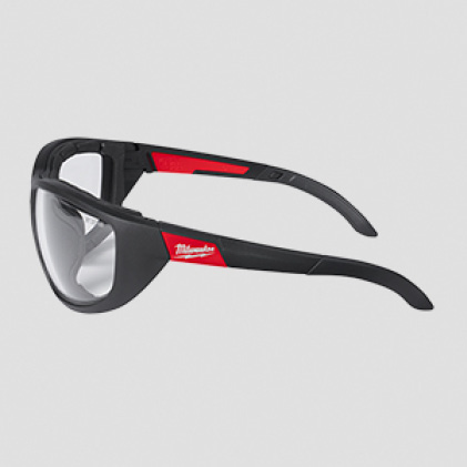Clear protective eyewear with Comfortable Temple Arms