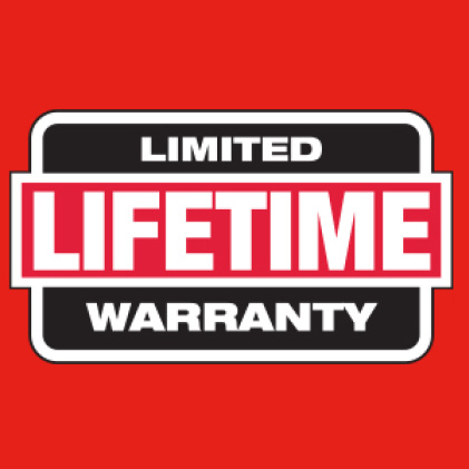 Clear safety glasses have Milwaukee limited lifetime warranty