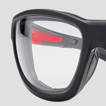 Clear safety glasses with Durable Anti-Scratch Lenses