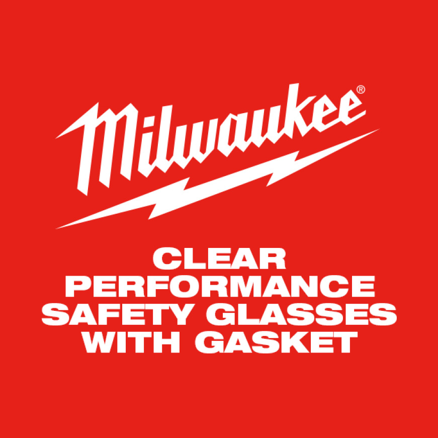 Milwaukee Clear Performance Safety Glasses with Gasket