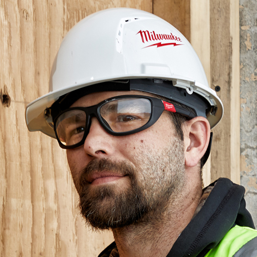 Performance safety glasses available with polarized or clear lenses