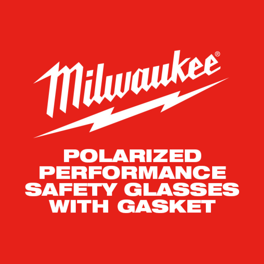 Milwaukee Polarized Performance Safety Glasses with Gasket