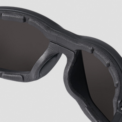 Tinted safety glasses with Comfortable Nose Bridge