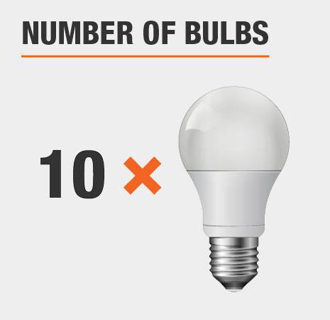 This light has 10 bulbs.