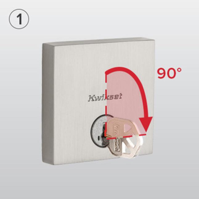 Kwikset Vancouver Satin Nickel Single Cylinder Low Profile