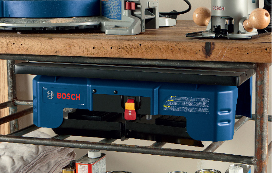Bosch router table back side