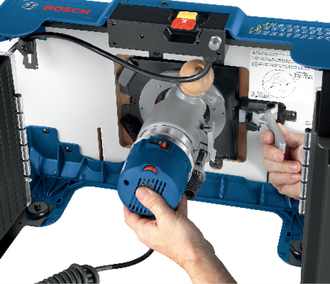 Bosch Router clicking into bottom of router table