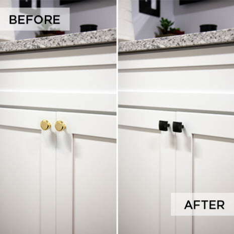 Easy cabinet update for dramatic results