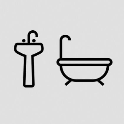 "1-1/4""-2-1/2"" Sinks, bathtubs , and showers"