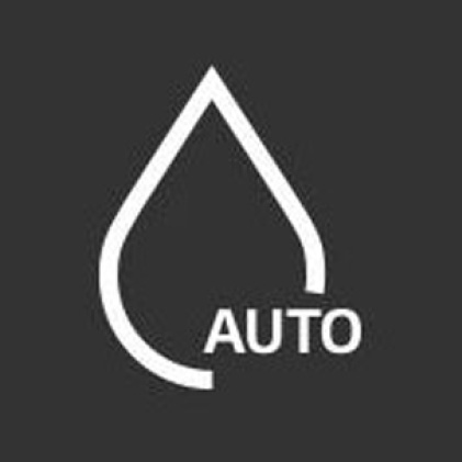 Icon of water droplet with the word auto