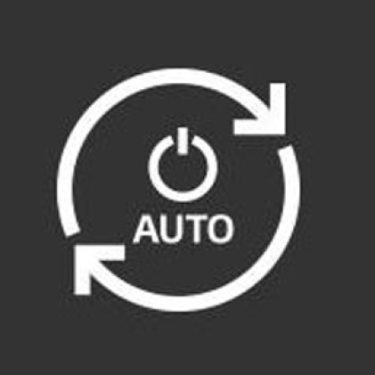 Icon of power button with arrows circulating to show auto restart