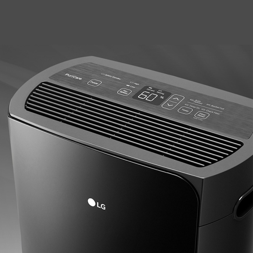 Close up of dehumidifier design