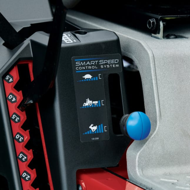 image of the smartspeed feature on the TimeCutter MyRIDE