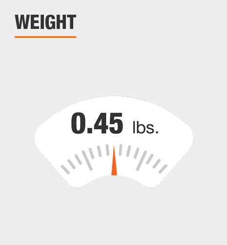 The weight is 0.45 lbs.