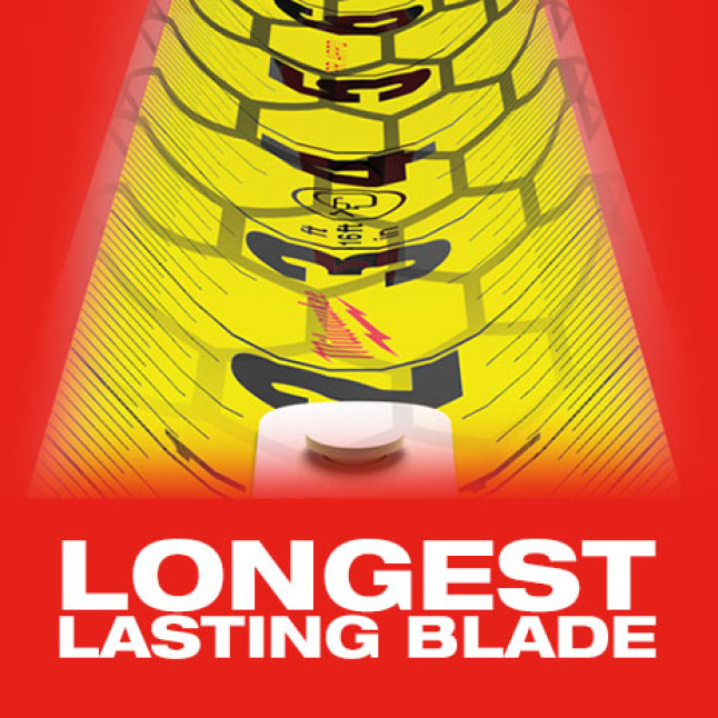 EXO360 Rip & Wear Resistant Blade Technology Protects the Tape Blade from Wear and Tear