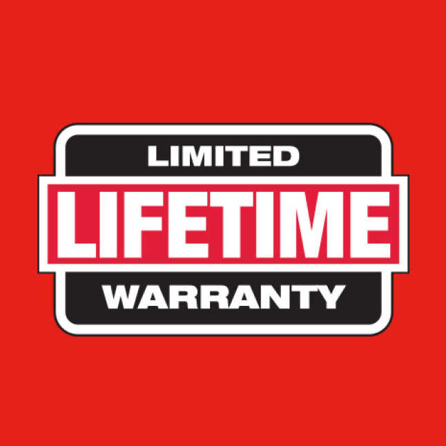 Backed by a Limtied Lifetime Warranty