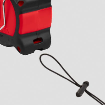 Intergrated lanyard hole makes it quick and easy to tether