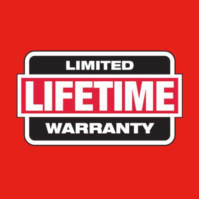 Backed by a Limtied Lifetime Warranty
