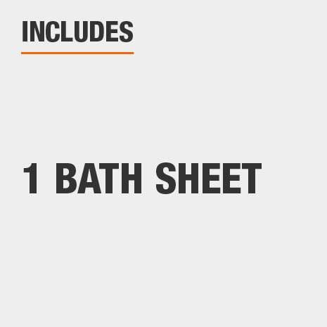 Includes one bath sheet