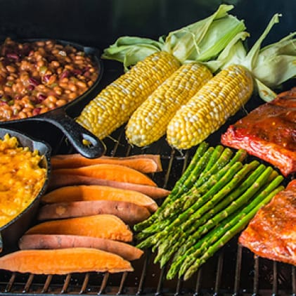 Traeger Grills - Square Inches - ProSeries34 with food