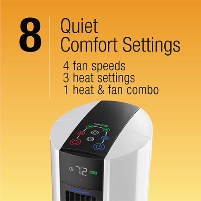 8 Heat, Fan and Combo Settings