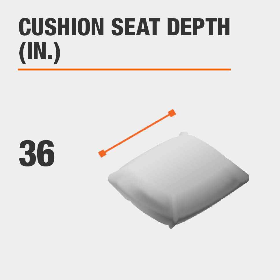 Cushion Seat Depth (in.) 36