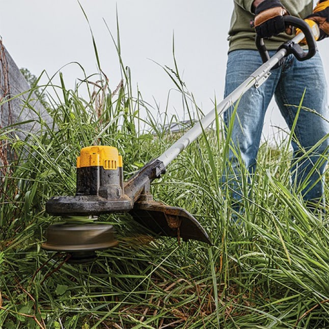 On the worksite or at home, DEWALT String Trimmers get the job done