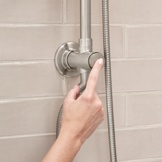 Spectra Versa Retrofit Shower System with push-button diverter