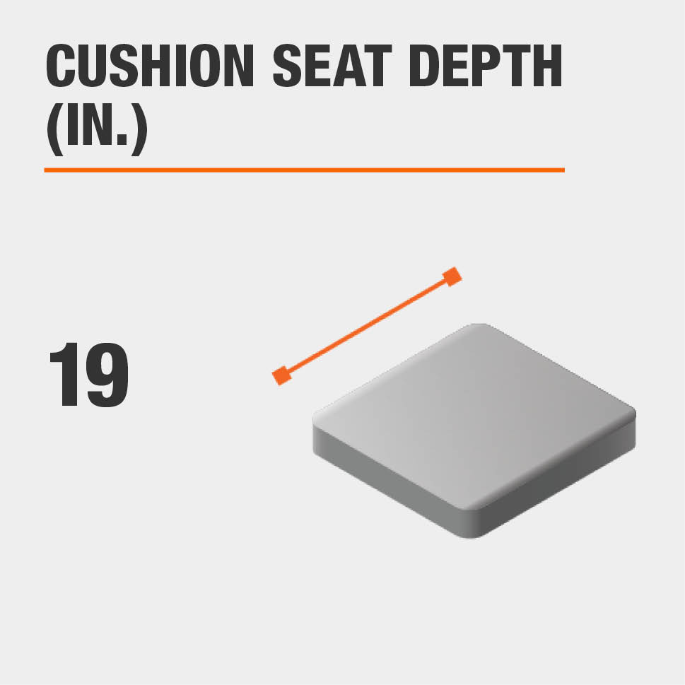 Cushion Seat Depth (in.) 19