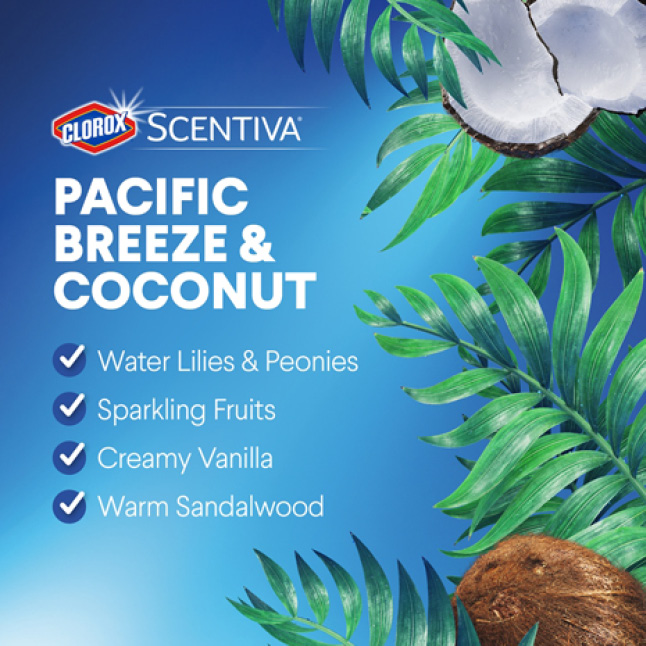 Captivating scent of Pacific Breeze & Coconut