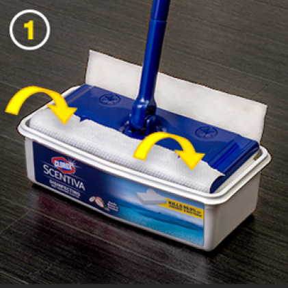 Attach to standard mopping tools