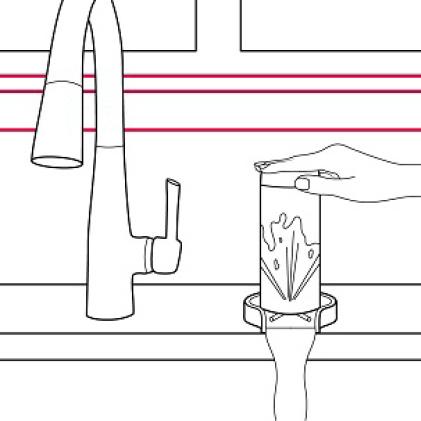 two spray options: spray or stream