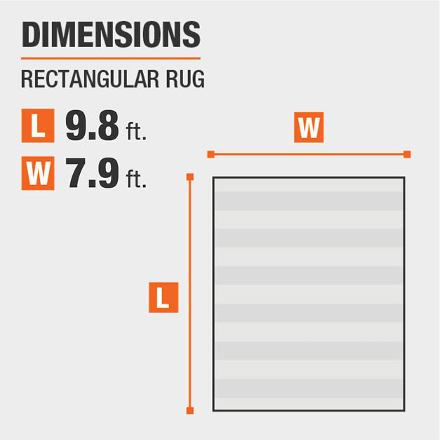 Alder Lane Area Rug is 7.9 ft. wide and 9.8 ft. long