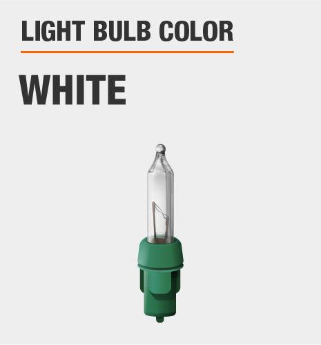 Light bulb color is white