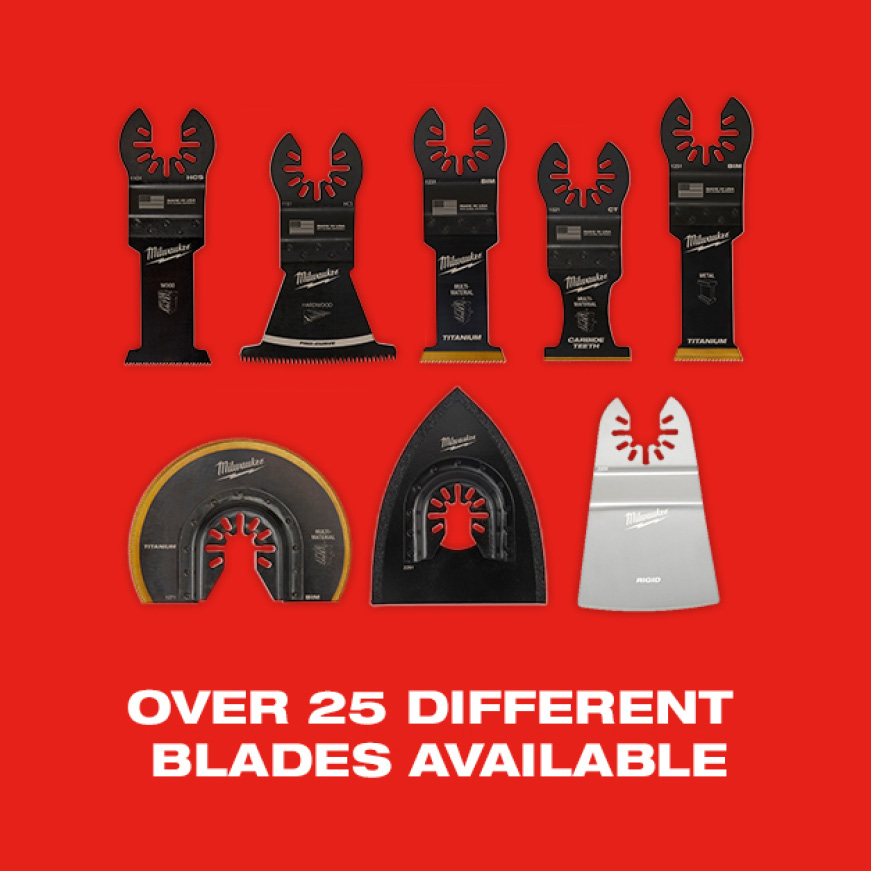 Blades range from wood, hardwood, multi-material, metal, sanding, etc.