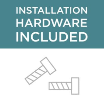 Icon showing the installation hardware included