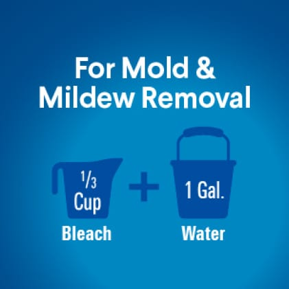 Prewash surface. Mop or wipe with bleach solution. Allow solution to contact surface for at least 10 minutes. Rinse and air dry.