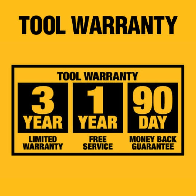 Three Year Limited Warranty, One Year Free Service and Ninety Day Money Back Guarantee