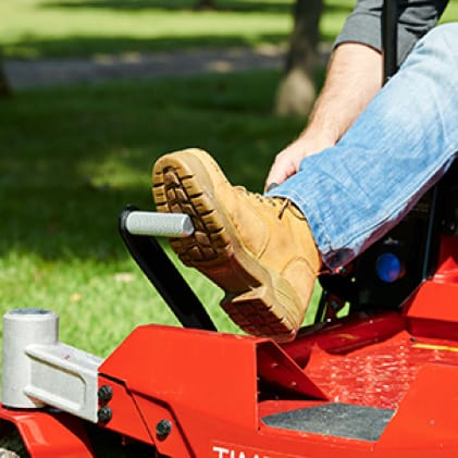 image of foot list assist on the TimeCutter zero turn mower