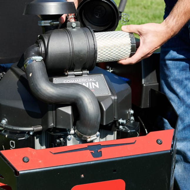 image is of the canister air cleaner
