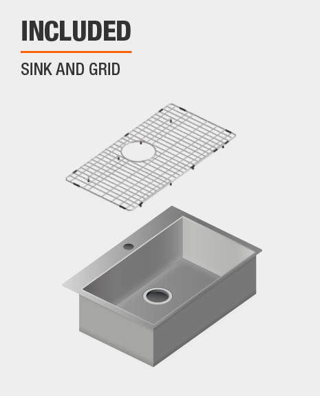 Sink and grid set included