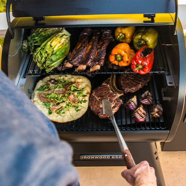 Traeger Grills - Versatility - Food on Grill