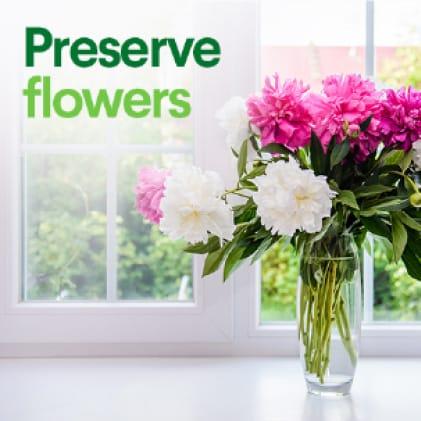 Keep flowers fresher, longer.