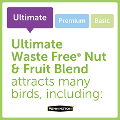Pennington Ultimate Waste Free Nut and Fruit Blend Bird Types
