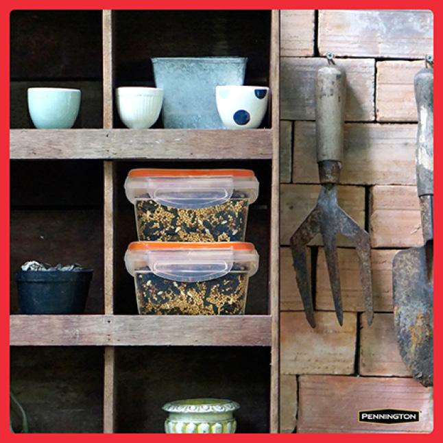 Pennington Premium Birder's Blend Seed Storage
